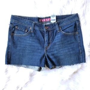 Festival Boho Denim Levi's Cut Off Shorts Sz9